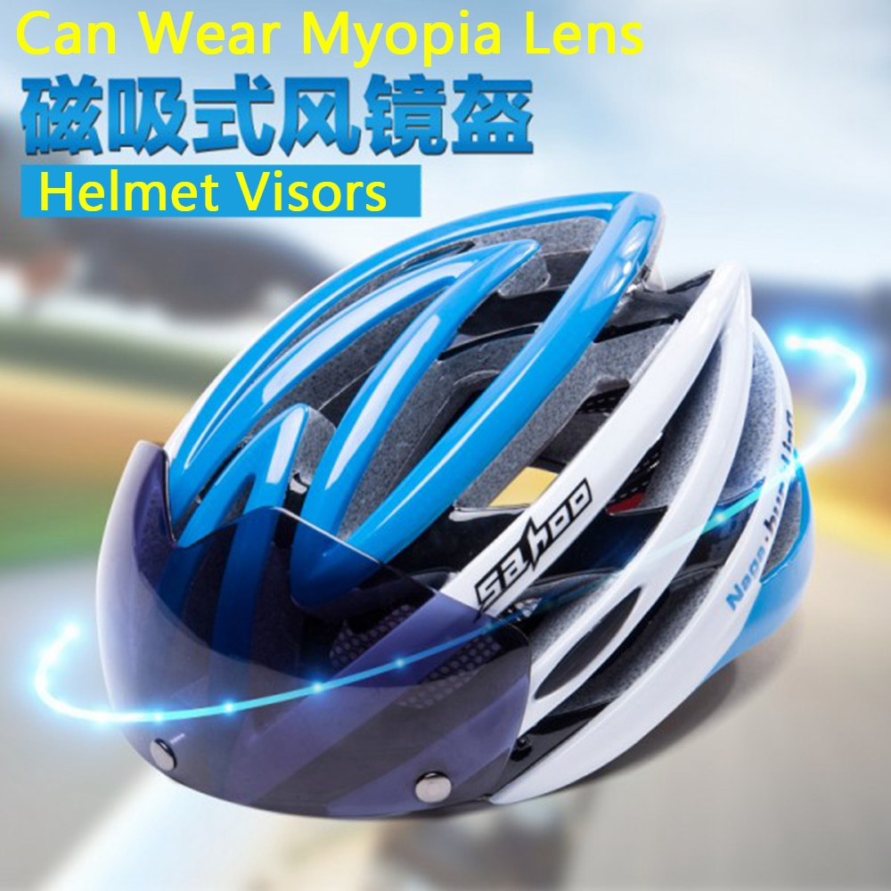 MTB Road Mountain Racing Bike Helmet with goggles Ultralight Bicycle Cycling Helmet Integrated Molding Include Glasses Windproof