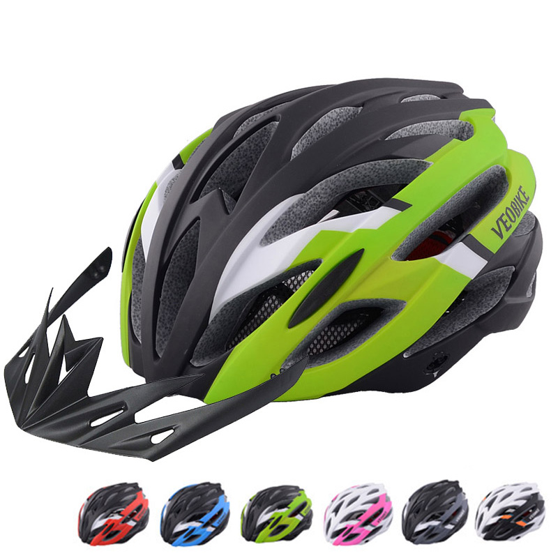 VEOBIKE Professional Cycling Road Bike Cycling Helmet Men Bicycle Integrally Molded Ultralight MTB Sport Helmet Casco Ciclismo