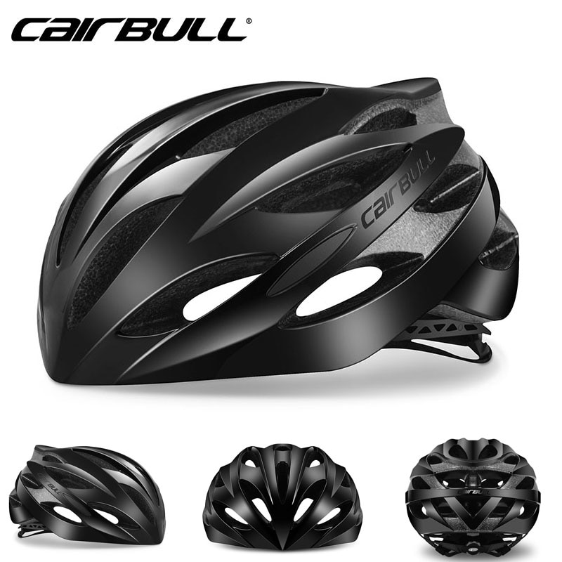 2018 Cairbull Lightweight Bicycle Helmet Breathable Road Racing Helmets Sports Safety All-terrai Cycling Helmet M L Black White