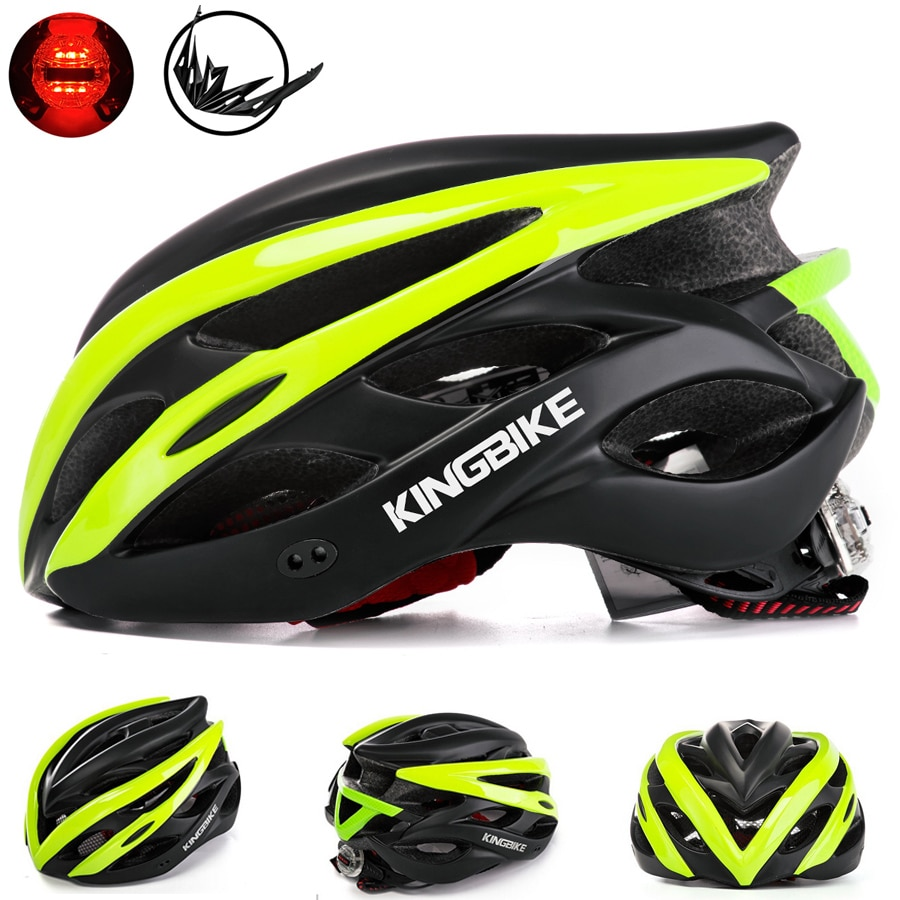 KINGBIKE Bicycle Helmet Matt Black Ultralight MTB In-mold Cycling Helmet With Visor Breathable Road Mountain Outdoor Bike Helmet