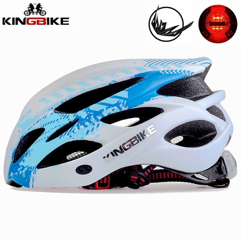 KINGBIKE Ultralight Integrally-molded Cycling Helmet MTB Road Bike Casco Ciclismo Safe Cap Men Women taillight Bicycle Helmet