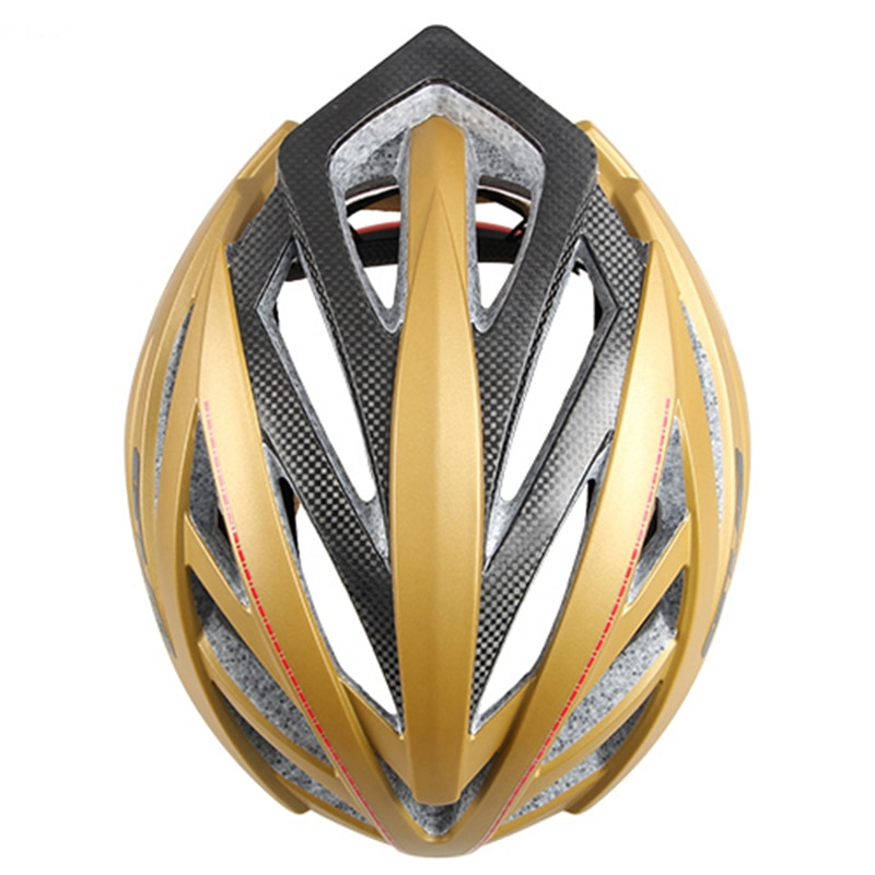 New Brand PRO 60% more safety Carbon fiber frame Bicycle helmet Cycling Helmet road city bike racing Helmets sports Design Red