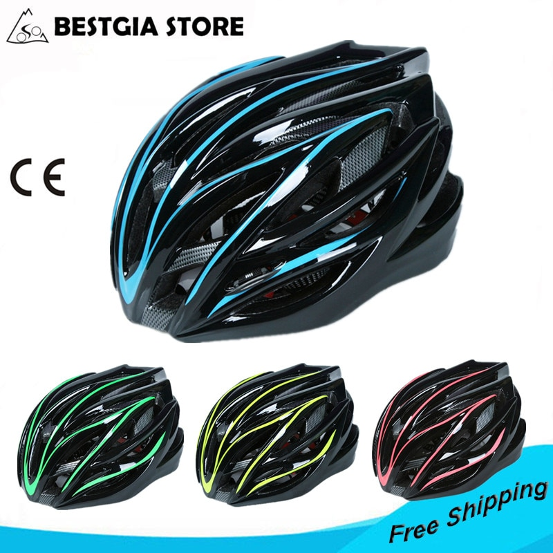 New Style Ultralight Cycling Helmet Integrally-molded Professional Bike Helmet Dual Use Road MTB Bicycle Accessories 4 Colors