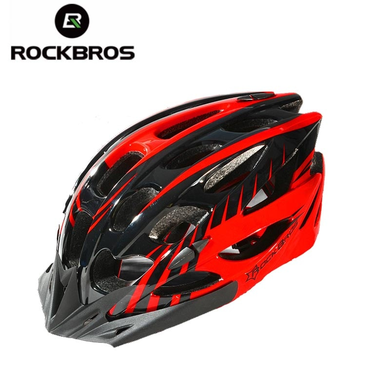 ROCKBROS Bicycle Helmets Men Women Ultralight Helmet Back Light Mountain Road Bike Integrally Molded Cycling Helmets 2 Models