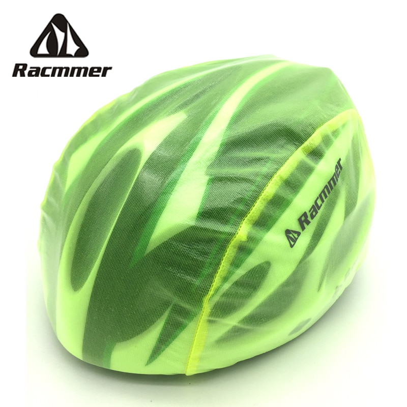 Racmmer Windproof Dust-proof Rain Cover MTB Road Bike Cycling Cycle Ultra-light Helmet Covers, 6 Colors Fluorescent Green #PJ-03