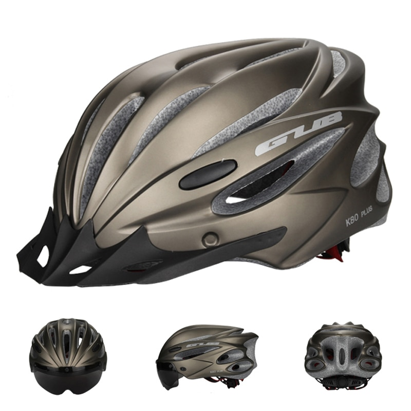 3 Lens Cycling Helmet Ultralight Bike Helmet In-mold Magnetic Goggles Bicycle Helmet 17 Air Vents Casco Ciclismo