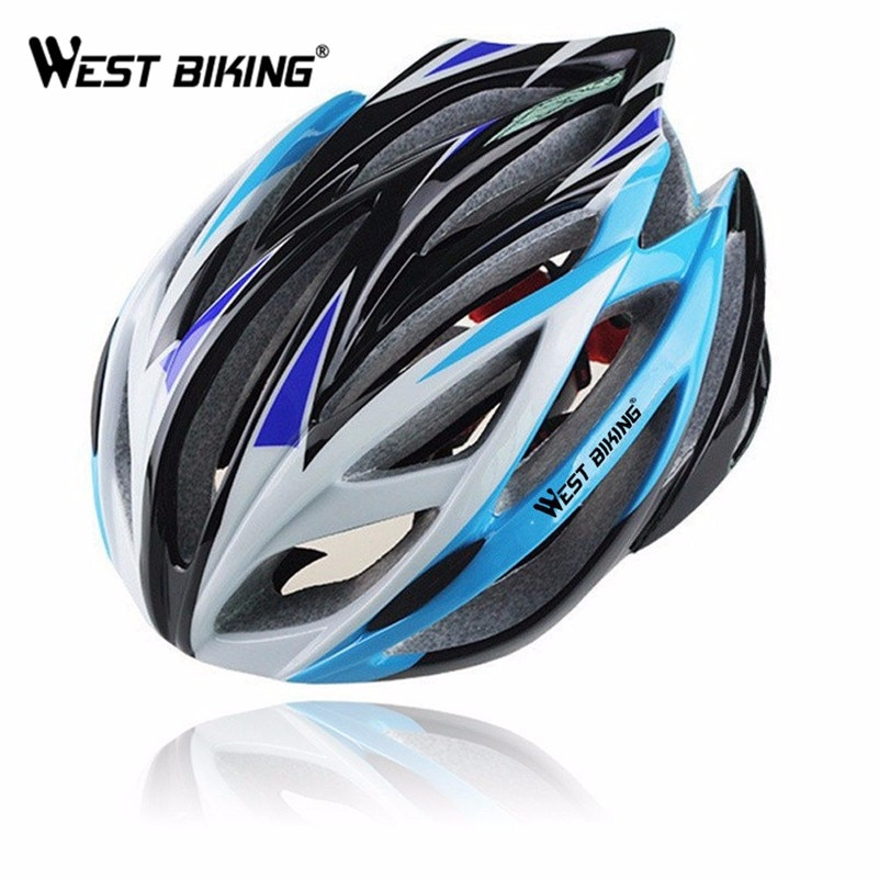 WEST BIKING Bike Safety Helmet Cycling MTB Unisex Bike Integrally-molded Professional Ultra-light PVC 21 Vent Cycling Helmet